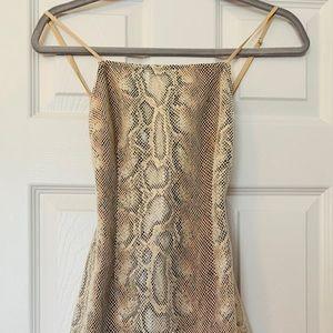 Urban Outfitters Snake Skin Print Mini Dress